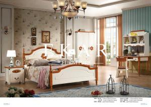 Quality Latest European Mediterranean Style Bedroom Furniture Ivory Wood  Double Bed For Sale