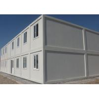 China White Prefabricated Container House Two Stories With External Stairs And Eaves on sale