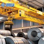 Red / Yellow Free Standing Crane , Industrial Electric Overhead Travelling Crane