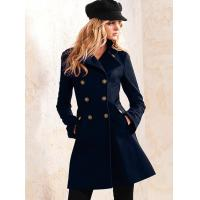 Black Woolen Womens Cool Winter Coats Long sleeve Original Duffle Coat