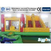 Penguin Inflatable Bounce House Custom Durable Vinyl / Tarpaulin With Slide