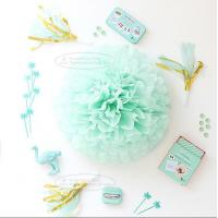 China Paper Flower Balls Tissue Paper Pom Poms For  Birthday/Wedding/Party Decorations on sale
