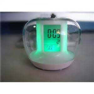 China Apple shape changing clock on sale