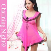 China Super Sex Women Sleepwear Latest Fashion Sexy Transparent Babydoll Lingerie For Women on sale