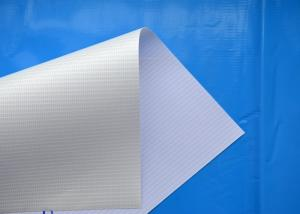 China White Color PVC Flex Banner 510gsm Laminated Banner 1.02 - 3.2m Width Optional on sale