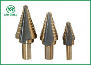 China Straight Flute HSS Step Drill Bit , 2 Inch Step Drill Bit For Multiple Hole on sale