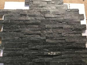 China Hottest Natural Stacked Stone, Wall cladding stone, Black Quartzite Ledgstone Tiles on sale