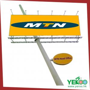 China Outdoor Road Sign Unipole Advertising Column Signage Billboard on sale