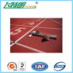 商業ゴム製フロアーリングの付着力の運動場連続したトラック多彩な通気性の床