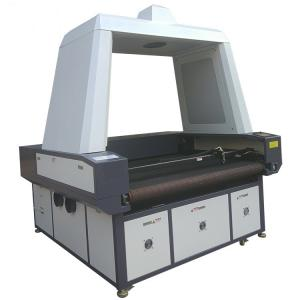 China Advertising Use Flag CCD Camera Laser Cutting Machine Printed Fabric Banner on sale