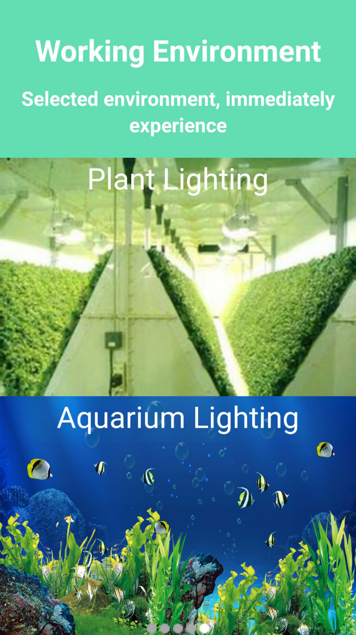 application of our wifi control led grow lights