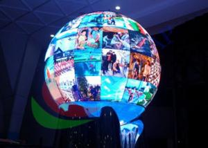 China Spherical P4.8 Creative LED Display Signage For Interior Shows Diameter 1200mm on sale