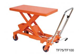 China 750Kg 16501b Hand Lift Table , Hydraulic Scissor Lift Cart Easy Hand Operation on sale