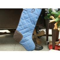 Polyester / Velvet Christmas Stocking , Modern Style Custom Christmas Stockings