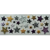 China Custom Glitter Star Stickers , 5 Horn Star Clear Epoxy Stickers on sale