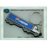 Vivid truck car shaped soft PVC keychain/rubber keychain of OEM customized design