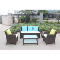 China Patio outdoor poly rattan sofa set on sale