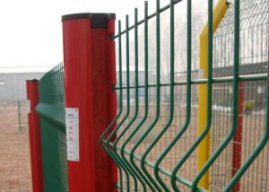 China White 14 15 16 Gauge Wire Mesh Fence , Green Plastic Coated Wire Fencing on sale