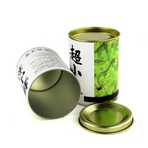 China ODM Food Grade Packaging Paper Tube with Iron Cap for Tea / Coffee on sale
