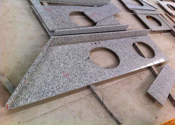 middle grey granite vanity tops 26 x 25 irregular customized rh prefabvanitytops sell everychina com