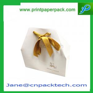 China OEM Printed Fashion Design Ribbon Gift packaging Box Different Shape Paper Box on sale