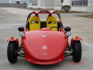 China Red Chain Drive Tricycle Motorcycle , Two Seats ATV Automatic With Reverse on sale
