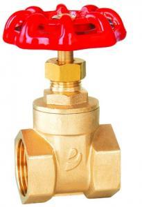 China High Pressure Plumbing Gate Valve , Brass Gate Valves For Water Threaded Bonnet DN Design on sale