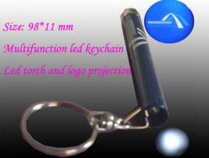 China customized multifunction metal aluminium led torch projector keychain on sale