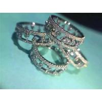 China De Beers Eternity Ring 18K White Gold Wedding Ring with VVS Diamonds Fine Jewelry on sale