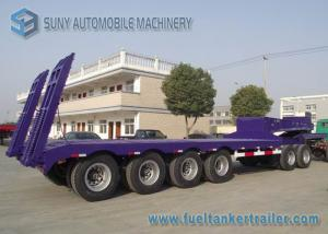 China 60 T Heavy Lowbed Flatbed Semi Trailer , 4 Axles Flatbed Car Trailer on sale