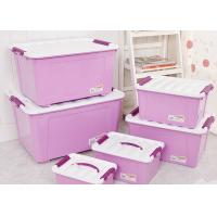 5L~85L plastic storage bin with handle and wheels storage box green pink