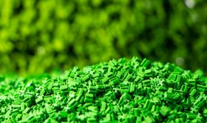 China Soft Anti UV Green Colored Artificial Grass Rubber Granules on sale
