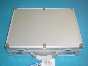 China OEM Silver Grain Aluminium Laptop Briefcase for Notebook Document Classify on sale