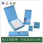 Caso feito sob encomenda de Jewelly dos azul-céu do tamanho, caixa de cartão de Grazioso para a caixa de Jewelly