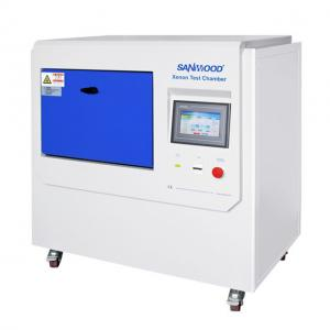 China Safety Helmet Ultraviolet Aging Test Chamber Stand Type Full Spectrum Sunlight Simulation Per ASTM B155 on sale