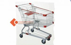 China 125L Germany shopping trolley Chrome plated heavy duty on sale