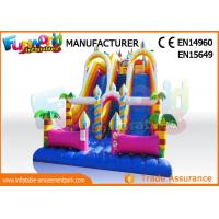 Vinyl Commercial giant inflatable slide double slide inflatable playground slide