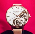 Wholesale Olivia Burton 38mm RoseGold Ion Plated w/Rose Butterfly Face Ladies Quartz Watch OB16AM94