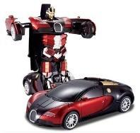 China Transformers 4 battle robot electric acousto-optic toy remote control car Bugatti on sale