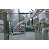 China Prefabricated Building Curved Stairs Stainless / Carbon Steel Beam Material on sale