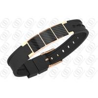 Carbon Fiber Jewelry Ladies Magnetic Bracelet Rose Gold Plated