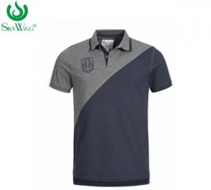 China Man Business 100 Polyester Polo Shirts Embroidered With Pattern 180 Grams on sale