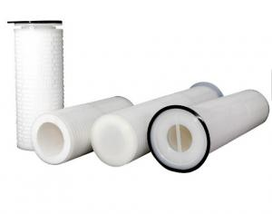 China Replacement GF / PP Pleated Filter Cartridge For Sea Water Desalination on sale