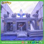 castillo animoso colorido inflable con la diapositiva para los niños, castillo de salto combinado, inflable inflable de la venta caliente en venta
