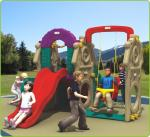 Small Size Kids Plastic Playset For Public Park / Fun Kaiqi Playground With Slide
