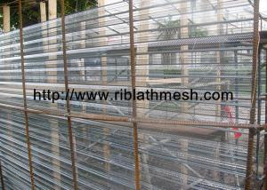 China V Structure Expanded Metal Mesh 10cm Rib Distance Building Materials on sale