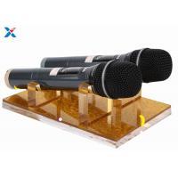 Durable Acrylic Display Rack Clear Acrylic Microphone Display Hold For KTV Nightclub