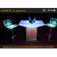 Waterproof Remote Control Lighted Bar Tables Furniture With Lights