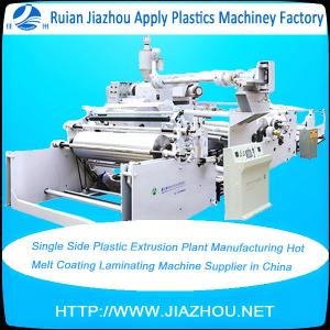 China Single Side Plastic Extrusion Plant Manufacturing Hot Melt Coating Laminating Machine Supplier in China on sale