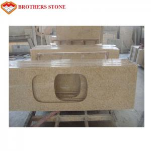 China Polished G682 Rust Yellow Granite Stone , G682 Granite Double Sink Vanity Top wholesale